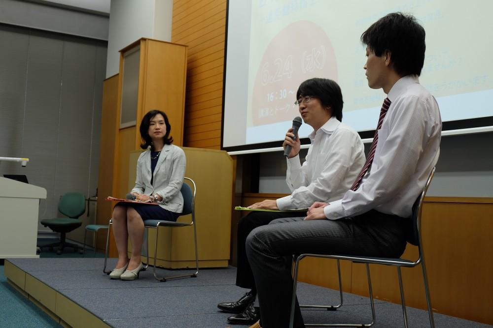 写真:奥野先生・川村さん・古山さんによるトークセッション